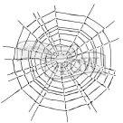 Plastová šablona - Pavučina ( 30,5 x  30,5 cm )