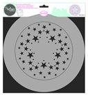 Plastová šablona Aladine - Hvězdy ( 28 x 28 cm )