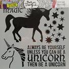 Plastová šablona - Unicorn ( 30,5 x 30,5 cm )