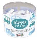 Gumová malovací razítka Aladine - Auta, 12 ks