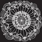Plastová šablona - Coronet Wreath ( 15,24 x 15,24 cm )