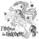 Plastová šablona - Believe in Unicorns ( 15,24 x 15,24 cm )