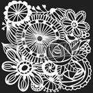 Plastová šablona - Blooming Garden ( 30,5 x 30,5 cm )