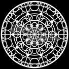Plastová šablona - Mandala Skylight ( 15,24 x 15,24 cm )