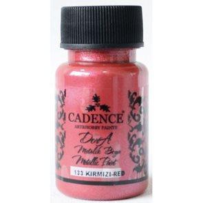 Akrylová barva Cadence DORA metalic, 50 ml - červená