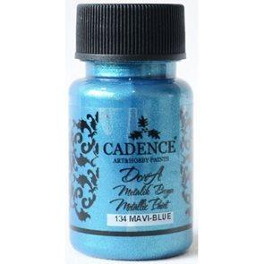 Akrylová barva Cadence DORA metalic, 50 ml - modrá