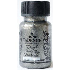 Akrylová barva Cadence DORA metalic, 50 ml - antracitová