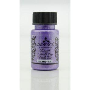 Akrylová barva Cadence DORA metalic, 50 ml - ametystová