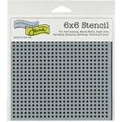 Plastová šablona - Micro Dots ( 15,24 x 15,24 cm )