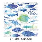 Nažehlovací obrázky na textil Cadence - Ryby s nápisy