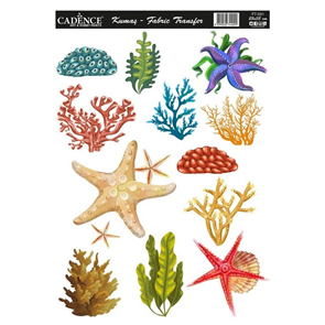 Nažehlovací obrázky na textil Cadence - Koralový útes