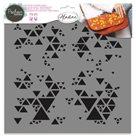Plastová šablona Aladine - Trojúhelníčky ( 28 x 28 cm )