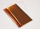 Metalická fólie mix: zlatá, stříbrná, bronzová, 3 x 3 m.