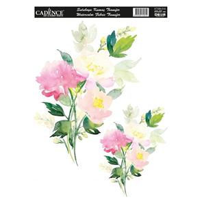 Nažehlovací obrázek na textil Cadence - akvarelová luční kytice, 25 x 35 cm