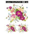 Nažehlovací obrázek na textil Cadence - květiny, 25 x 35 cm