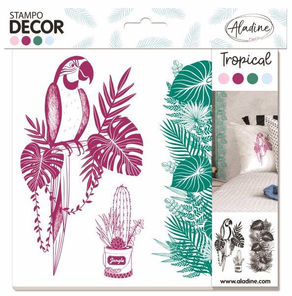 Gumová razítka Aladine Stampo Decor - Tropical
