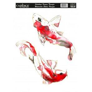 Nažehlovací obrázky na textil Cadence, akvarelová - ryby