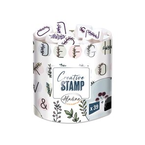 Razítka Aladine Creative Stamps - květinová abeceda a věnečky