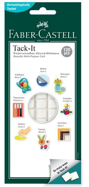Lepicí hmota Faber-Castell TACK-IT bílá, 75 g / 120 ks