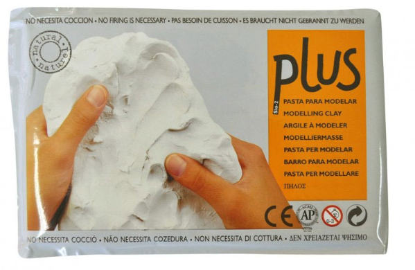Keramická hmota Plus bez výpalu - 1,5 kg bílá