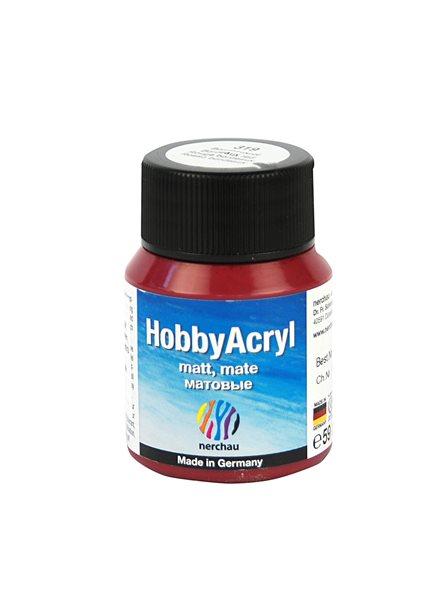 Hobby Acryl matt Nerchau - 59 ml - červená bordó