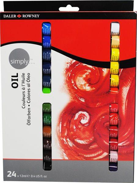 Sada olejových barev SIMPLY – 24x12ml