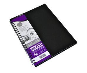 Skicovací blok Daler Rowney v pevných deskách - A4, kroužková vazba