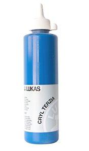 """Akrylová barva LUKAS """"Cryl Terzia"""" 500ml - primární modrá"""
