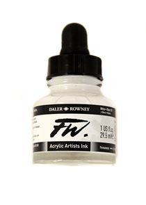 Umělecká akrylová tuš Daler Rowney 29,5 ml - White