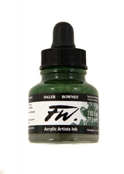Umělecká akrylová tuš Daler Rowney 29,5 ml - Sap Green
