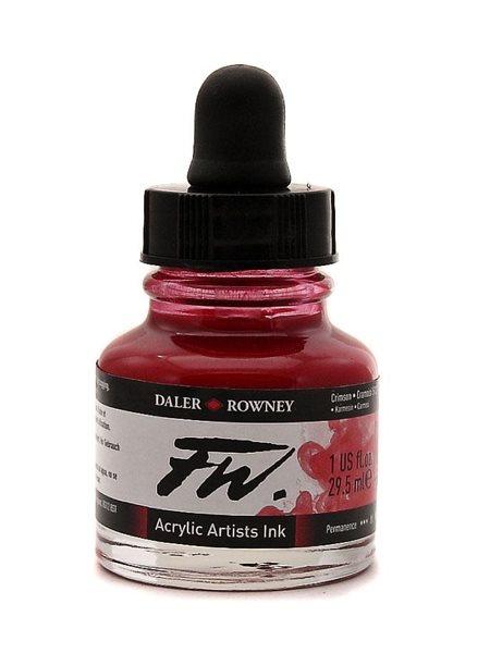 Umělecká akrylová tuš Daler Rowney 29,5 ml - Crimson