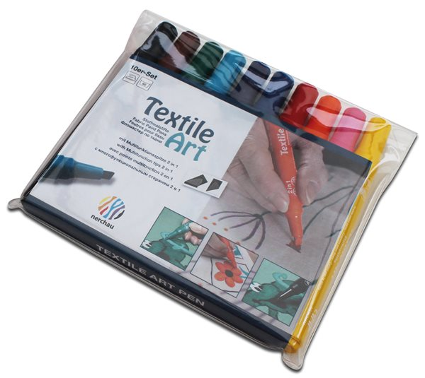 Sada fixů na textil Nerchau, 10 barev