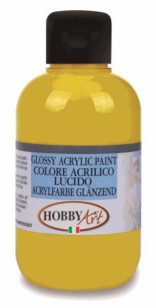 Akrylová barva Hobby Art, lesklá 50ml - žlutá