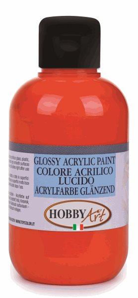 Akrylová barva Hobby Art, lesklá 50ml - oranžová