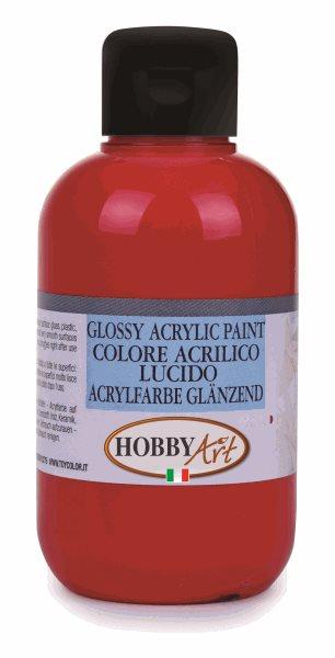 Akrylová barva Hobby Art, lesklá 50ml - karmín. červená