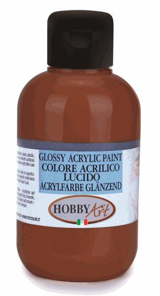 Akrylová barva Hobby Art, lesklá 50ml - hnědá