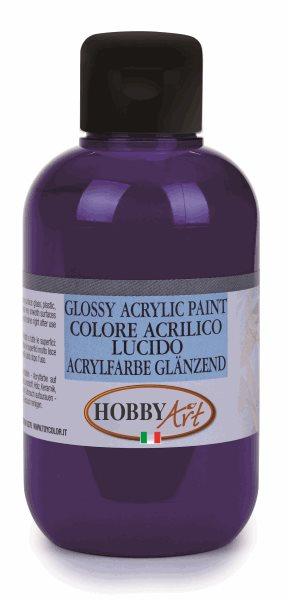 Akrylová barva Hobby Art, lesklá 250ml - fialová