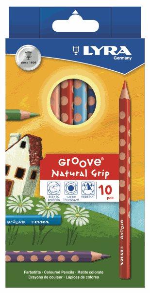 Pastelky Lyra GROOVE JUMBO, trojhranné - 10 ks