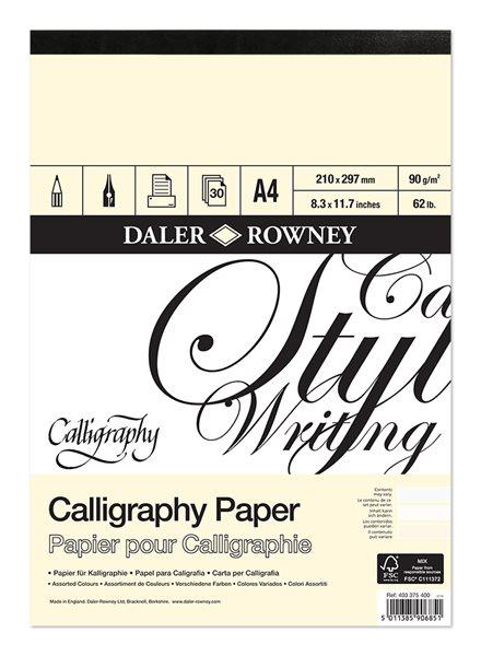 Kaligrafický blok Daler Rowney A4
