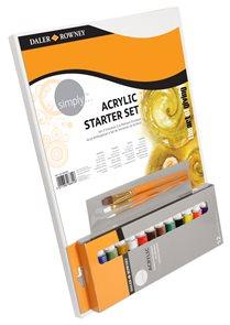 Startovací sada Daler-Rowney SIMPLY - akrylové barvy