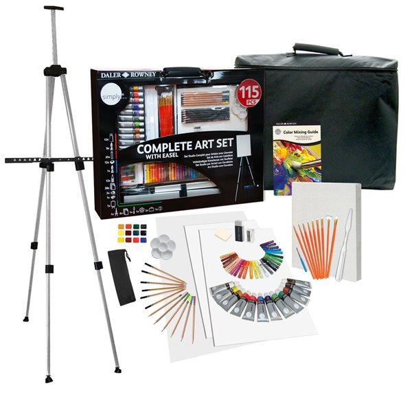 Velká výtvarná sada Daler-Rowney - Complete Art Set - 115 ks, Sleva 17%