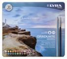 Akvarelové pastelky LYRA Graduate v kovovém pouzdru, 24 ks