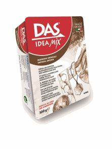 DAS Idea Mix - samotvrdnoucí mramorovací hmota - hnědá