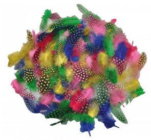 Kropenaté barevné peří měkké, 100 ks