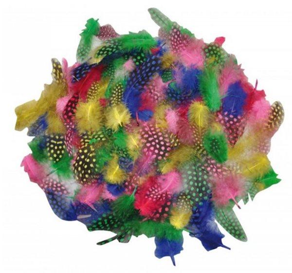 Kropenaté barevné peří měkké