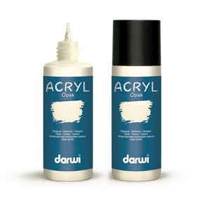 Akrylová barva DARWI ACRYL OPAK 80 ml, sloní kost