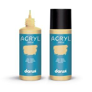 Akrylová barva DARWI ACRYL OPAK 80 ml, metalická zlatá