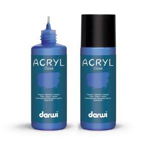 Akrylová barva DARWI ACRYL OPAK 80 ml, primární modrá