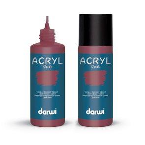 Akrylová barva DARWI ACRYL OPAK 80 ml, vínová červená