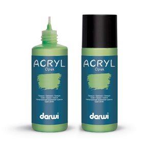Akrylová barva DARWI ACRYL OPAK 80 ml, světle zelená